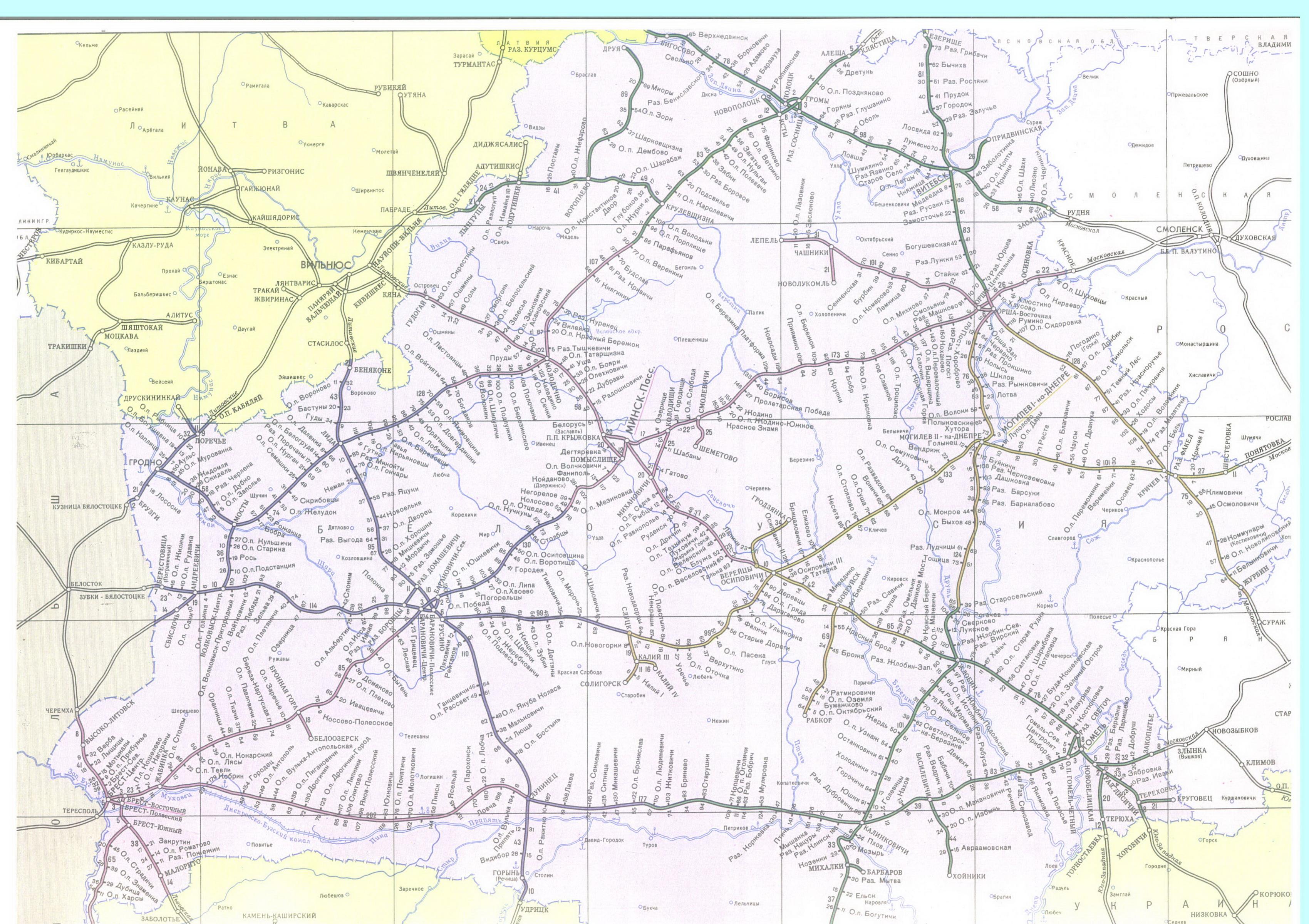Белорусская железная дорога схема фото 387
